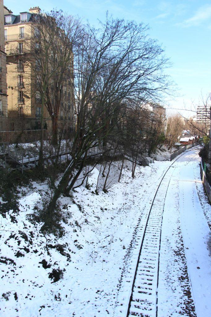 paris 15eme villa petite ceinture Parc Georges Brassens Parc Andre Citroen hiver neige campagne à paris