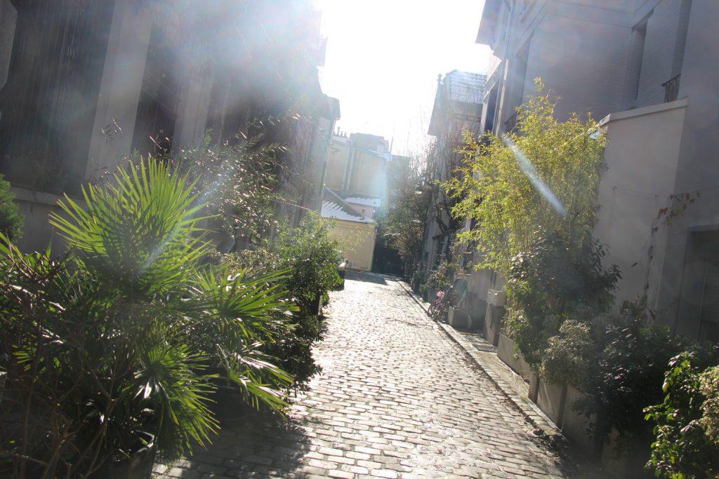 paris 15eme villa santos dumont maison Georges Brassens hiver neige campagne à paris